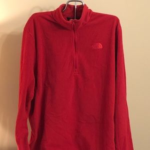 The North Face XXL 1/2 ZIP Red Fleece Pullover